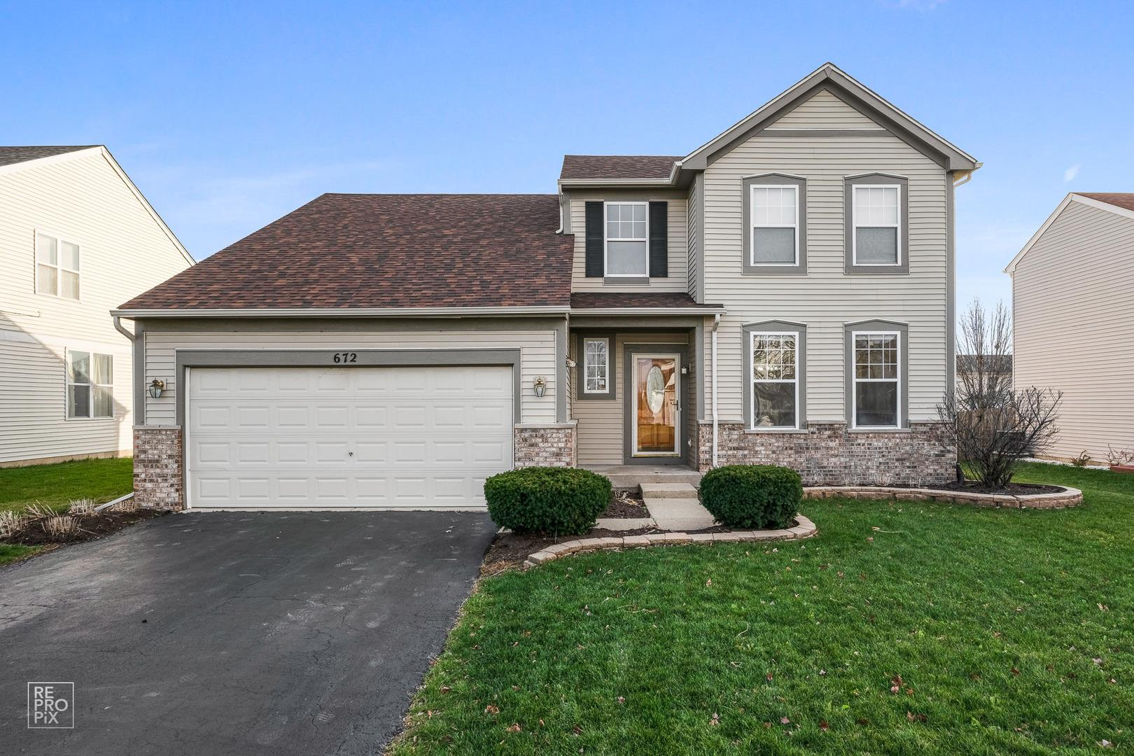 672 Stewart Avenue, North Aurora, IL 60542 - #: 10938073